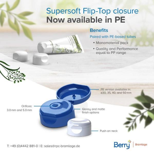 Berry Bramlage offers Supersoft Closure in PE to Make Mono-material Packaging Easy